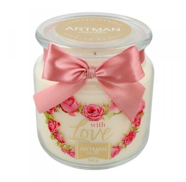 ARTMAN Świeca zapachowa With Love słoik mały 1szt-360g