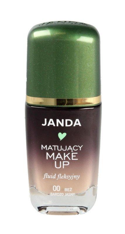 JANDA Make-up matujący - fluid fleksyjny nr 00 bardzo jasny beż  30ml