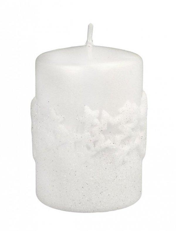 ARTMAN Boże Narodzenie Świeca ozdobna Ice Star biała - walec mały 1szt