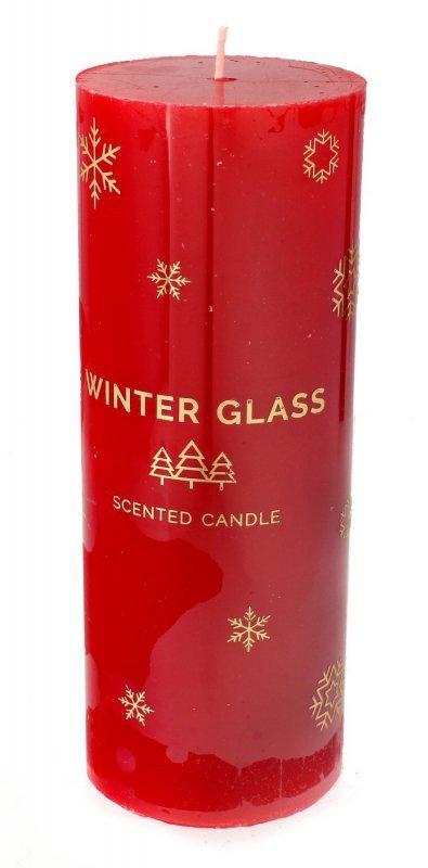 ARTMAN Boże Narodzenie Świeca zapachowa Winter Glass czerwona - walec duży 1szt
