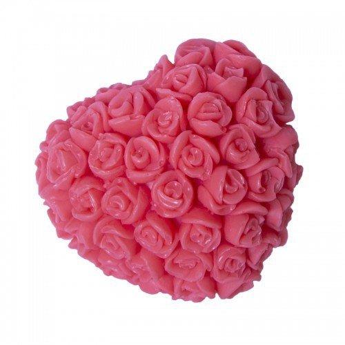 LaQ Mydełko glicerynowe Serce w różyczki - czerwone  1 szt