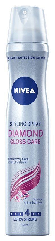 Nivea Hair Care Styling Lakier do włosów Diamond Gloss Care 250ml