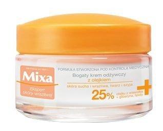 Mixa Krem odżywczy z olejkiem 25% do cery suchej i wrażliwej  50ml