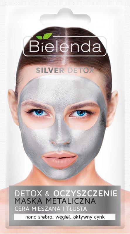 Bielenda Silver Detox Maska Metaliczna oczyszczająca - cera mieszana i tłusta  8g