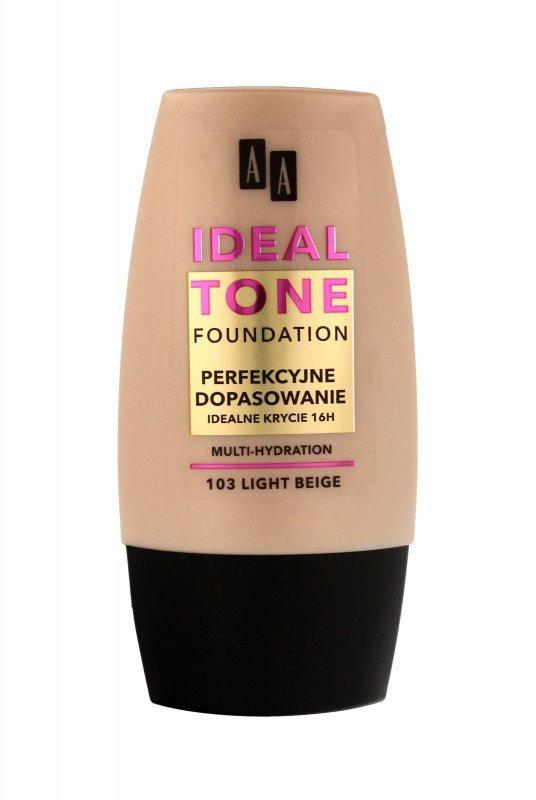 """AA Make Up Ideal Tone Podkład """"Perfekcyjne Dopasowanie"""" nr 103 light beige  30ml"""