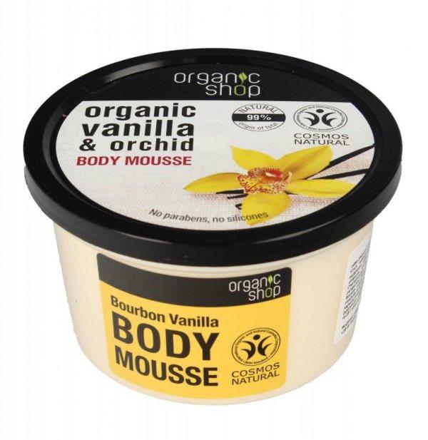 Organic Shop Mus do ciała Wanilia Burbońska & Orchidea  250ml