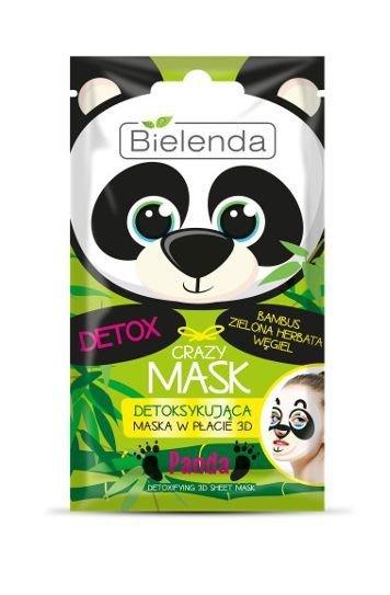 Bielenda Crazy Mask Maska detoksykująca w płacie 3D Panda