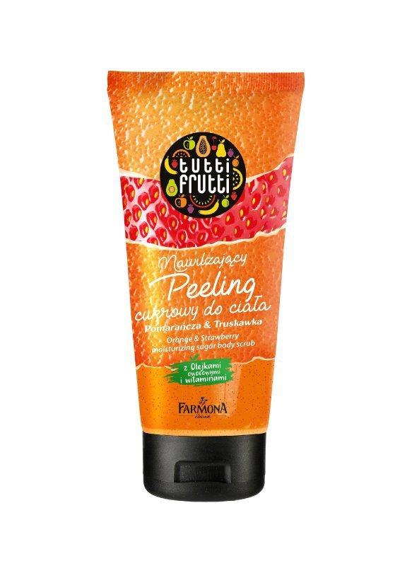 Farmona Tutti Frutti Peeling cukrowy nawilżający do ciała Pomarańcza & Truskawka  200ml