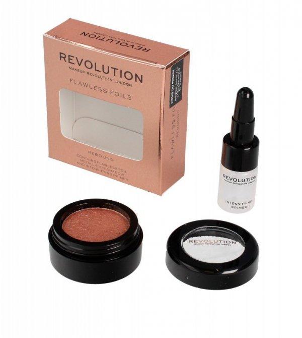 Makeup Revolution Flawless Foils Cień do powiek metaliczny+baza Rebound  1op.