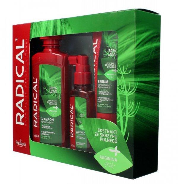 Farmona Zestaw prezentowy Radical (szampon 400ml+odżywka 100ml+serum 100ml)