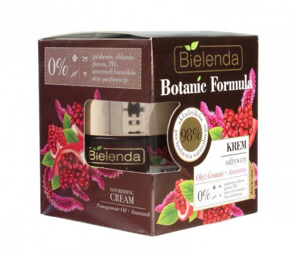 Bielenda Botanic Formula Olej z Granatu+Amarantus Krem odżywczy na dzień i noc  50ml