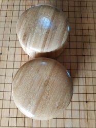 Bambusowe pojemniki na kamienie (para)