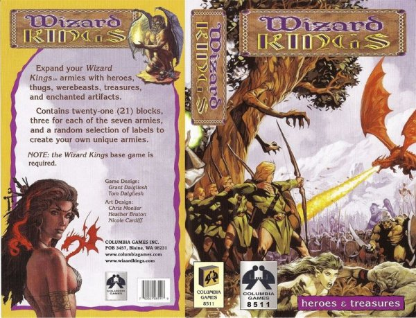 (USZKODZONA) Wizard Kings 2nd Ed.: Heroes and Treasures Expansion