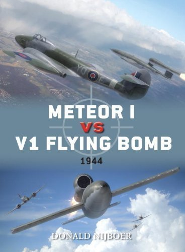 Meteor I vs V1 Flying Bomb (Duel) by Donald Nijboer
