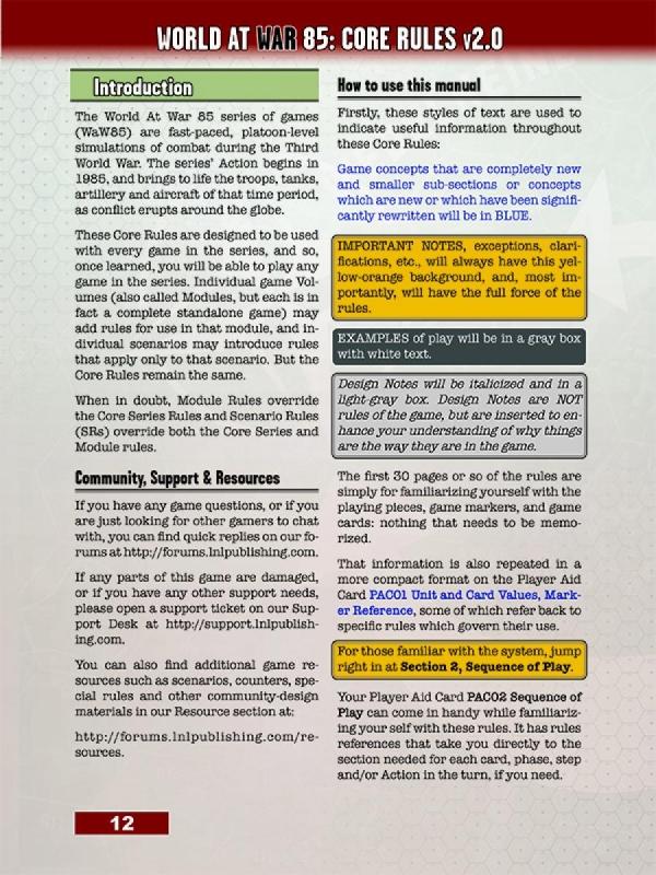 World at War 85 Storming the Gap Rules Book