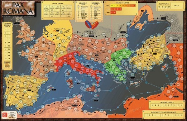 Pax Romana Mounted Mapboard