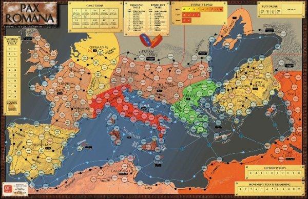 Pax Romana Mounted Mapboard