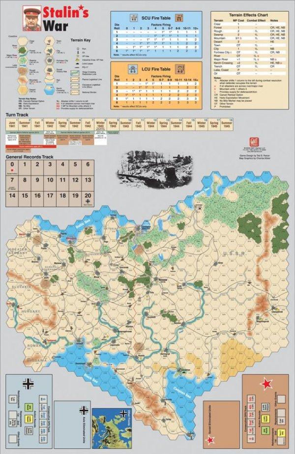 Stalin's War - Mounted Mapboard