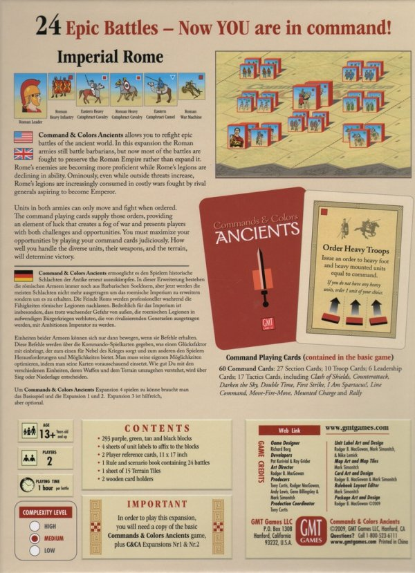 Commands & Colors Ancients Exp. #4 Imperial Rome