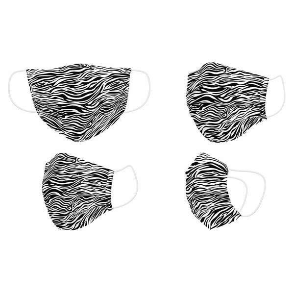 Maska higieniczna materiałowa wielokrotnego użytku Zebra Dorosły