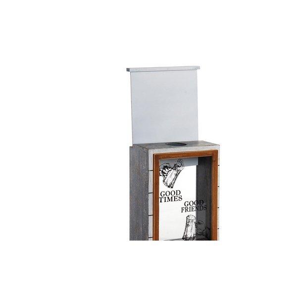 Otwieracz do butelek DKD Home Decor Szkło Drewno MDF (2 pcs) (22 x 12 x 29 cm)