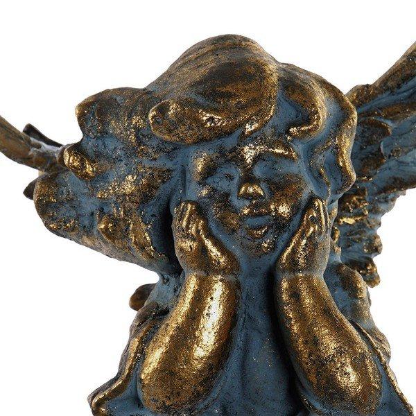 Rzeźba DKD Home Decor Anioł Złoty Wykończenie antyczne (19 x 18 x 63 cm)