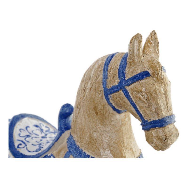 Rzeźba DKD Home Decor Koń Brązowy Żywica (27 x 10 x 31 cm)