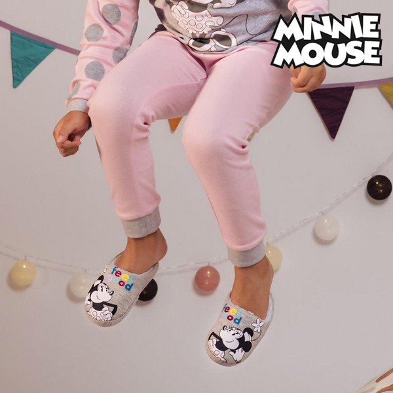 Pantofle Dla Dzieci Minnie Mouse Szary