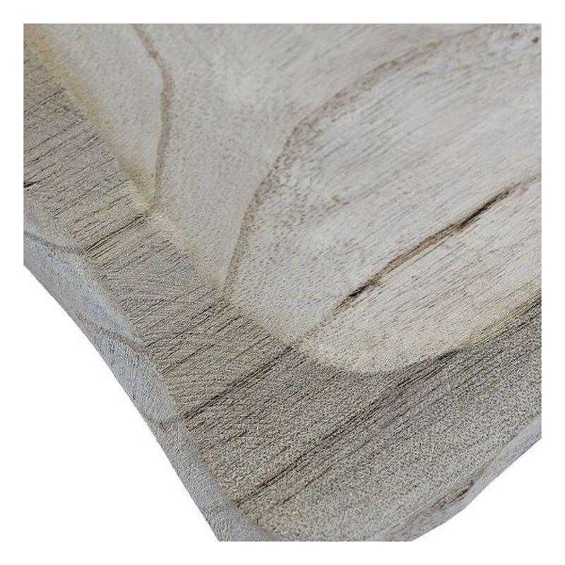 Dekoracja na Stół DKD Home Decor Drewno paulowni (25 x 25 x 3 cm)