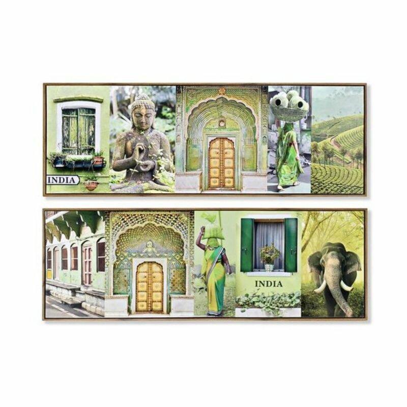 Obraz DKD Home Decor Indianka Lakierowany (2 pcs) (120 x 2 x 40 cm)
