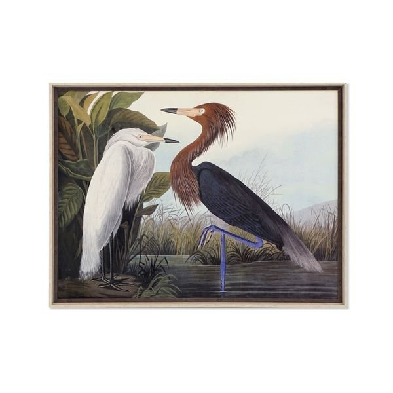 Obraz DKD Home Decor W ramce Ptaki (105 x 3 x 80 cm)