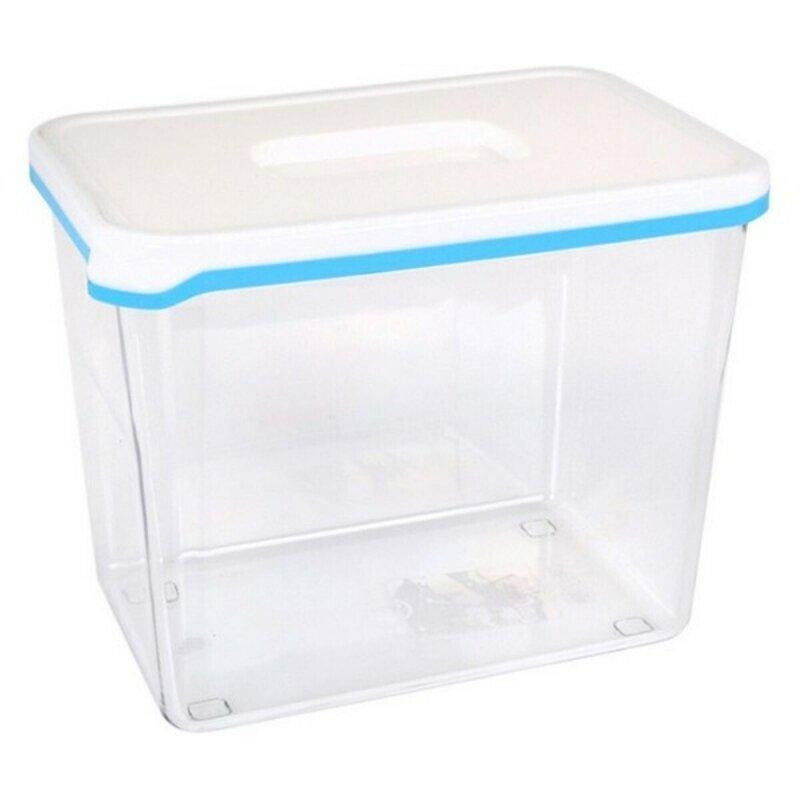 Pojemnik na Lunch White & Blue Prostokątny Wysoki