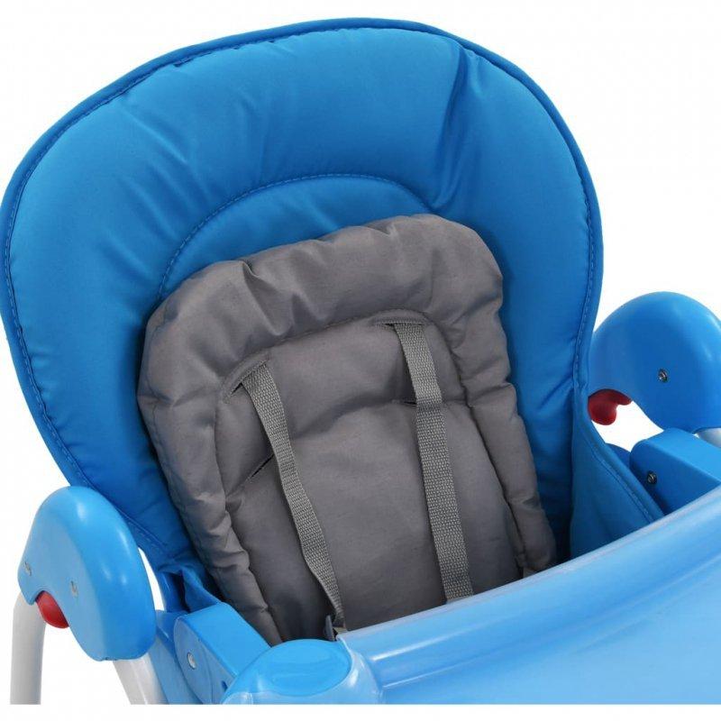 Krzesełko do karmienia dzieci, niebiesko-szare