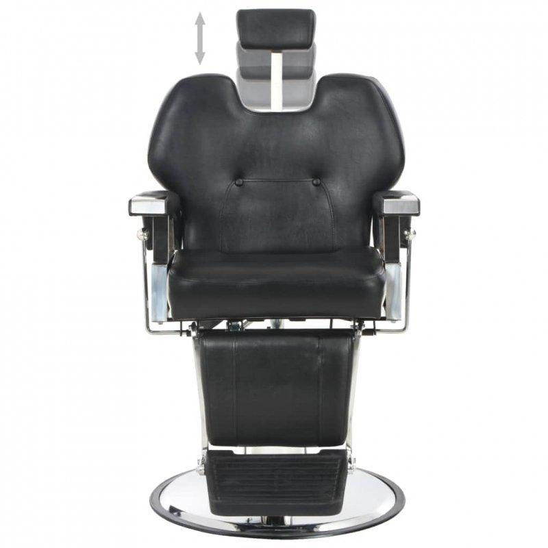 Fotel barberski, czarny, 72x68x98 cm, sztuczna skóra