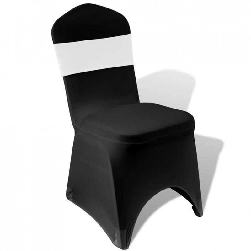 Pasy dekoracyjne na krzesła z diamentową klamrą, 25 szt., białe