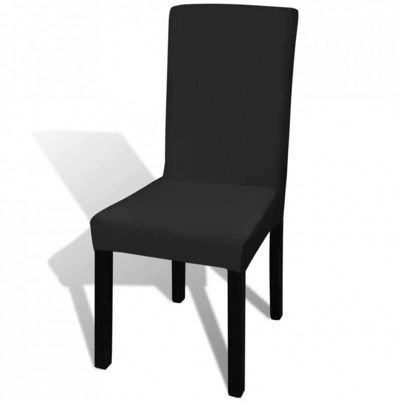 Elastyczne pokrowce na krzesła, 4 szt., czarne