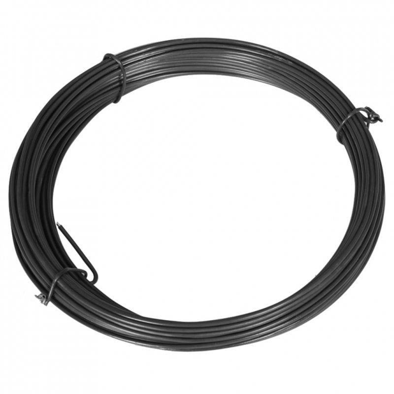 Drut naciągowy do ogrodzenia, 25 m, 1,4/2 mm, stalowy, szary