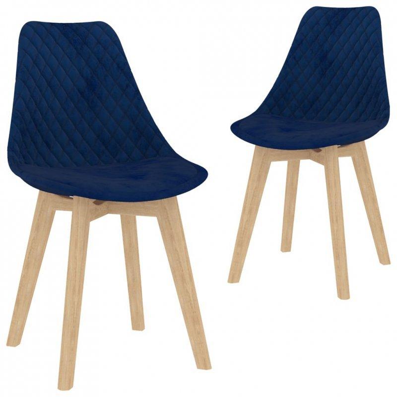 3-częściowy zestaw mebli jadalnianych, niebieski