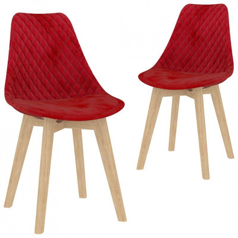 3-częściowy zestaw mebli jadalnianych, czerwony
