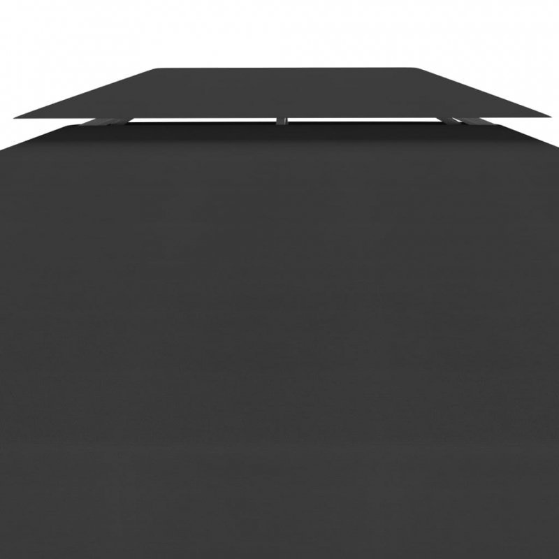 2-poziomowe zadaszenie altany, 310 g/m² 4x3 m, czarne