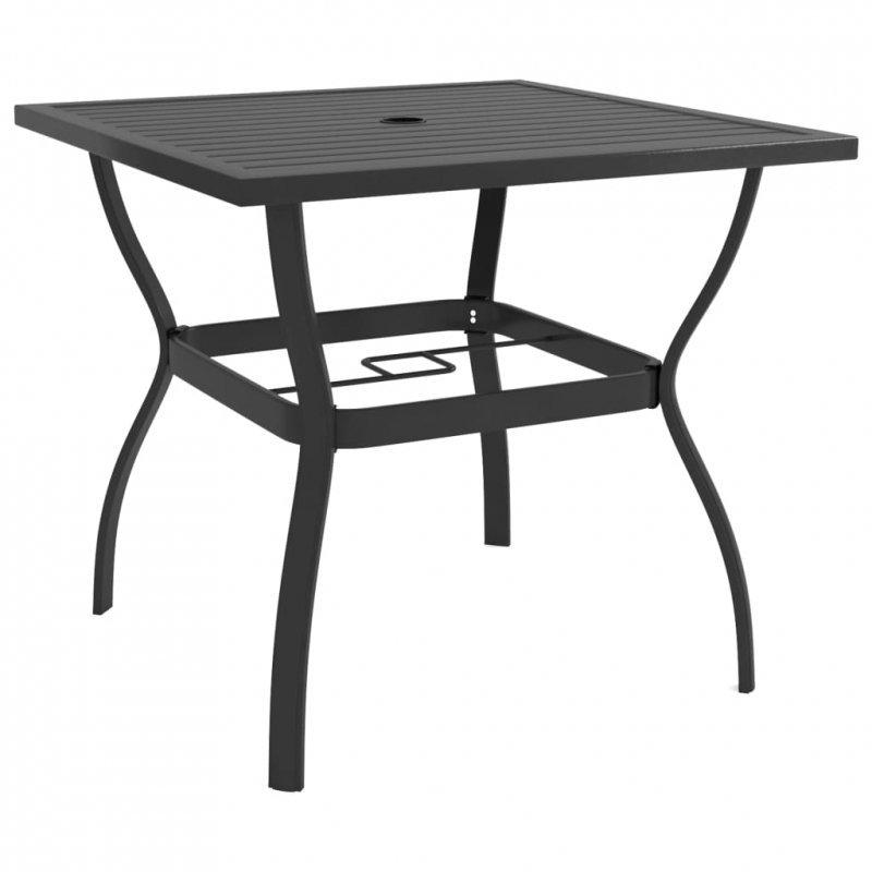 Stół ogrodowy, antracytowy, 81,5 x 81,5 x 72 cm, stal