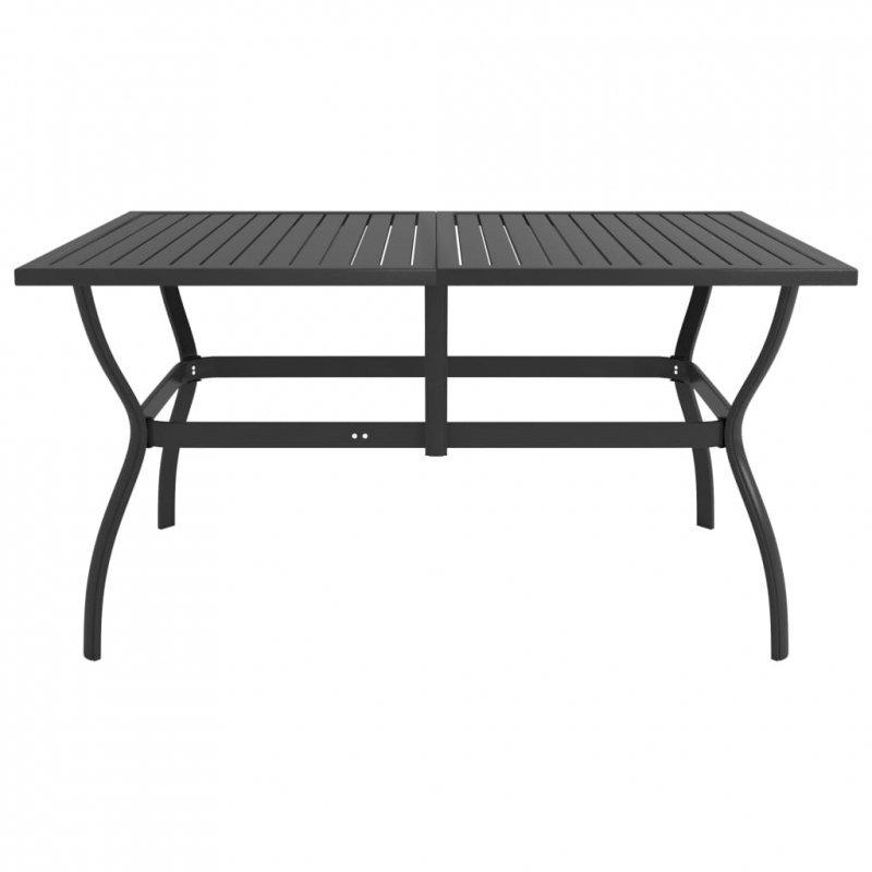 Stół ogrodowy, antracytowy, 140x80x72 cm, stal
