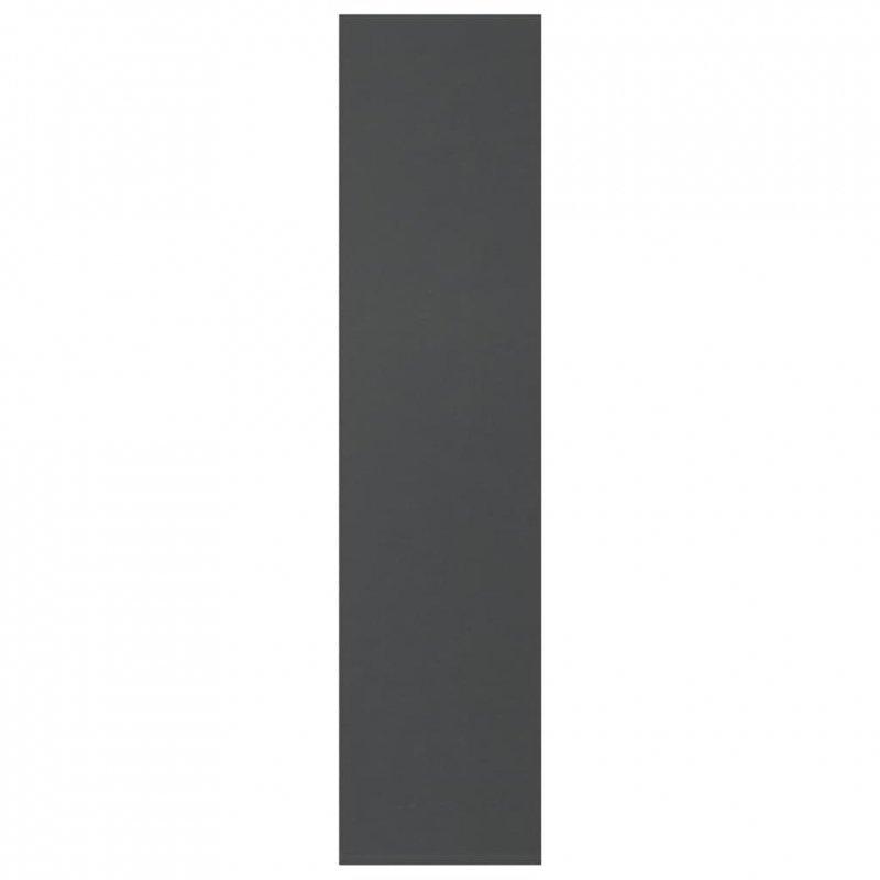 Regał na książki, szary, 50x25x106 cm, płyta wiórowa