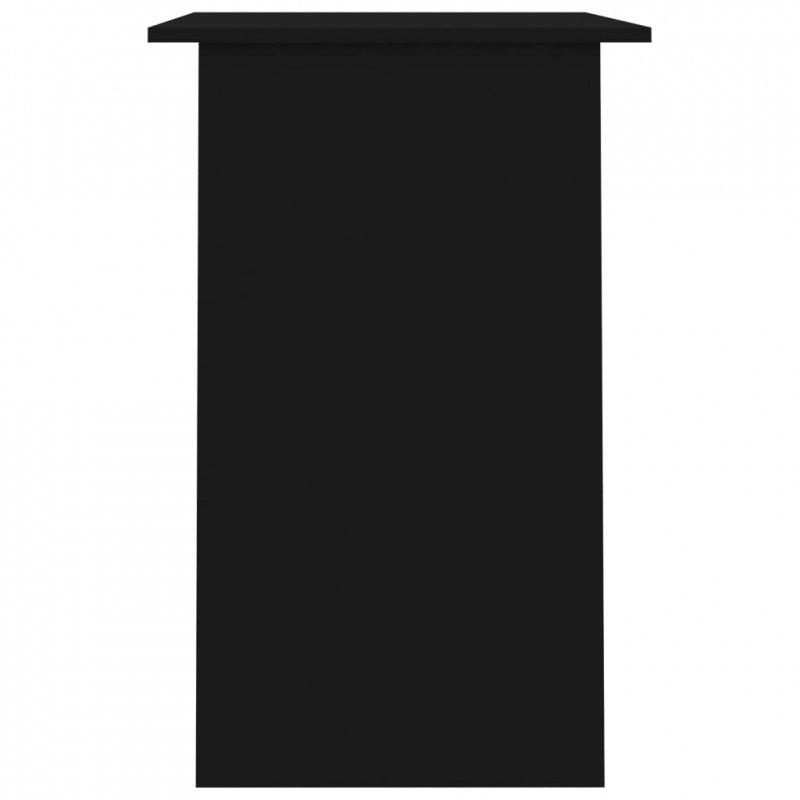 Biurko, czarne, 90x50x74 cm, płyta wiórowa
