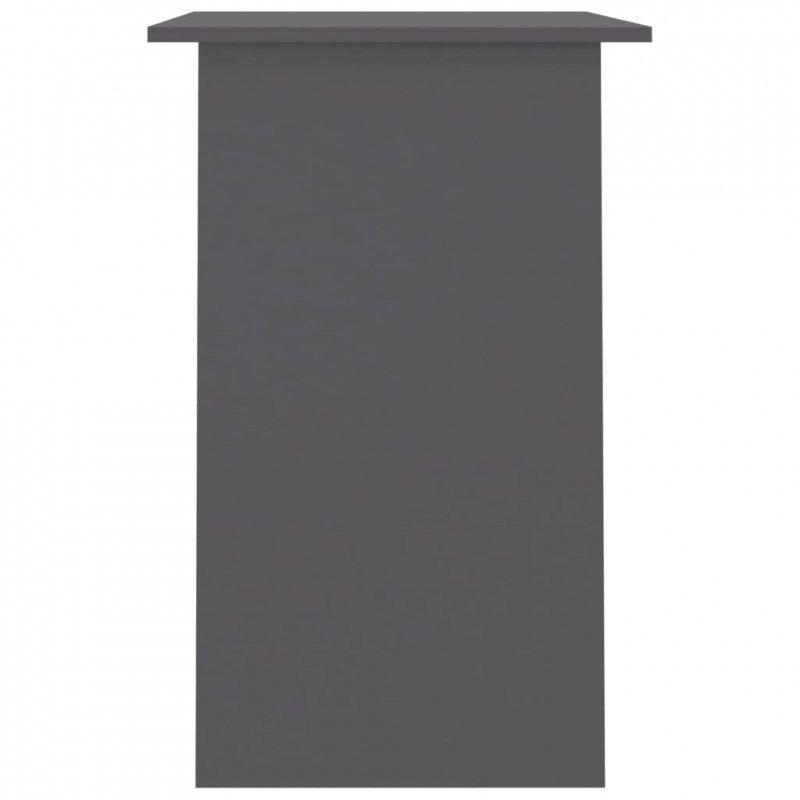 Biurko, szare, 90x50x74 cm, płyta wiórowa
