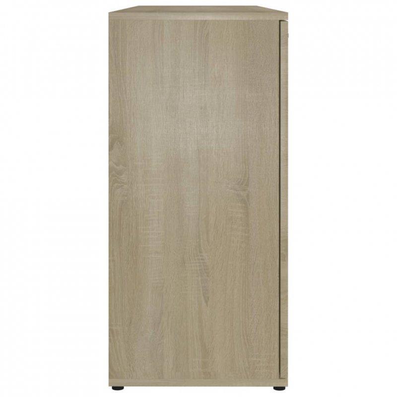 Komoda, dąb sonoma, 120x35,5x75 cm, płyta wiórowa