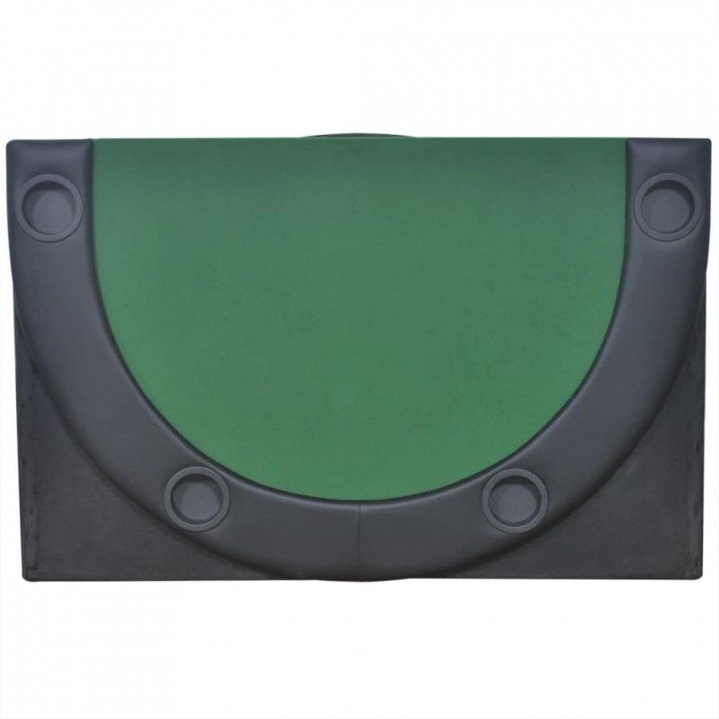 Składany blat do pokera dla 10 graczy, zielony