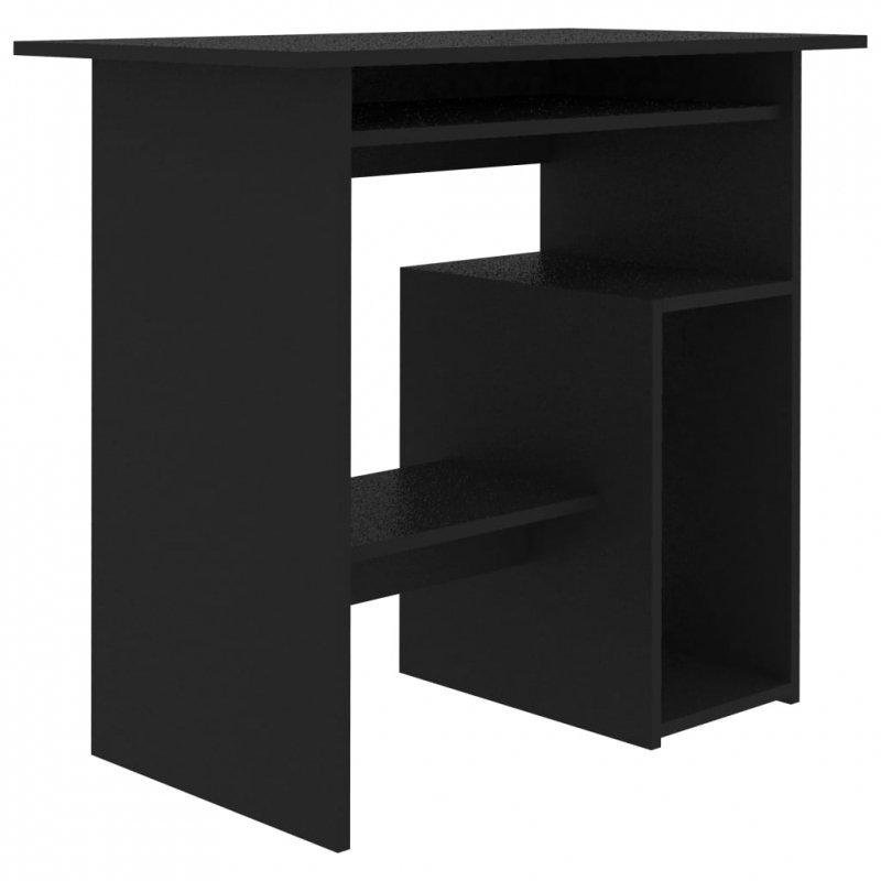 Biurko, czarne, 80x45x74 cm, płyta wiórowa