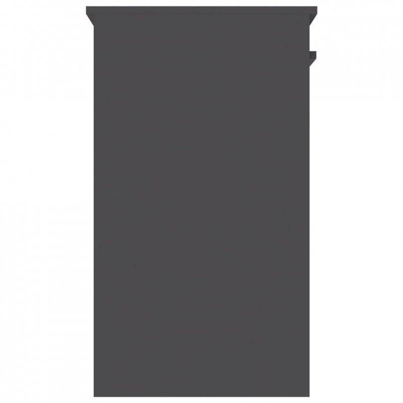 Biurko, szare, 90x45x76 cm, płyta wiórowa