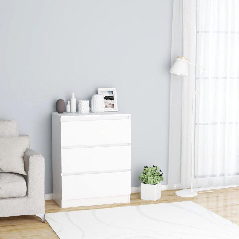Komoda, biała, 60 x 35 x 76 cm, płyta wiórowa
